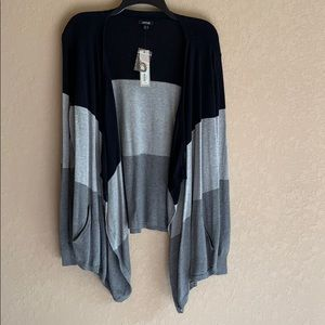 NWT APT 9 Color Block Flyaway Cardigan Sweater